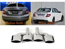 Fits Mercedes-Benz C-Classs AMG Style Exhaust Muffler Pipe Tip - Mirror
