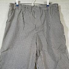 Designer Chef Pants Houndstooth Xl C17 Fame Fabrics Elastic Waist 3 Pocket Zips