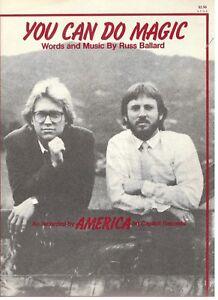 America You Can Do Magic Sheet Music Piano Vocal Guitar Chords 1982 Rare New Ebay