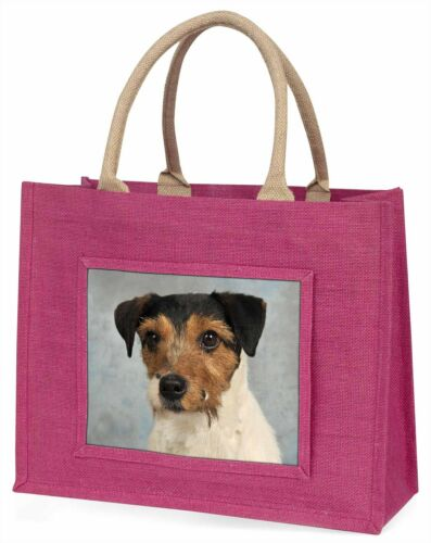 Jack Russell Terrier Dog Large Pink Shopping Bag Christmas Present Id, ADJR5BLP