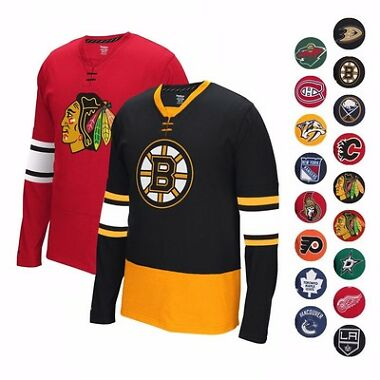 Reebok 2015-16 NHL Men's Jersey Tee Shirt