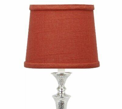 Red Linen 10 Inch European Drum, Slip Uno Drum Lamp Shades