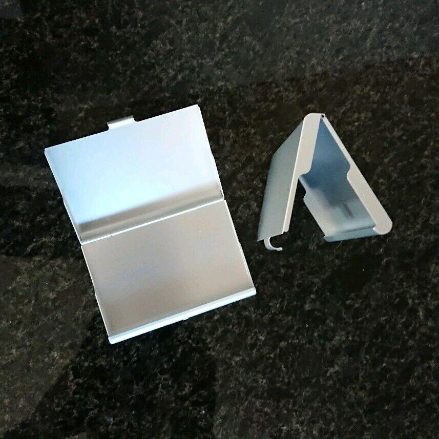 2x tarjetas de presentación, estuche, protección de acero inoxidable óptica elegante wizytówka visitkort vizitka