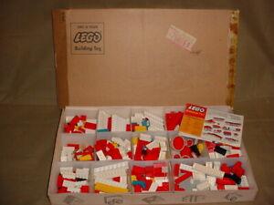Vintage-SAMSONITE-1960-039-s-Lego-Set-In-Original-Shipping-Box-No-7413