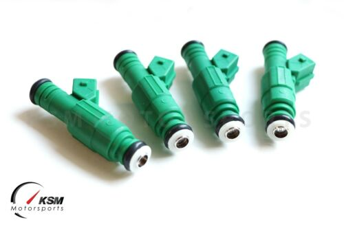 4 X 0280155968 Green Giant Fuel Injector fits Bosch 42lb Motorsport Racing 440cc