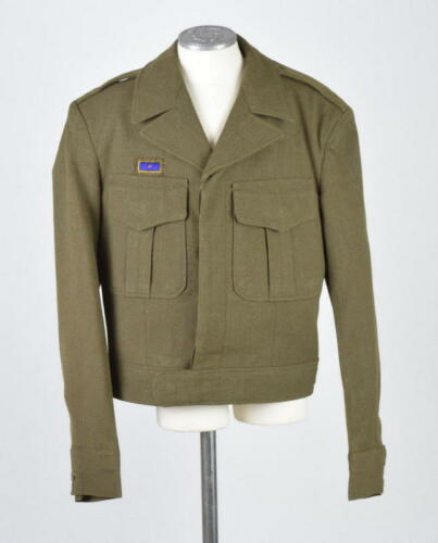 Vtg 40s Wool OD Crop Jacket 1948 Military Army Gre