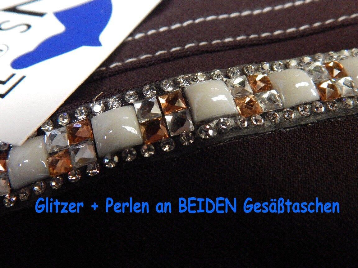 Reithose Anna Anna Anna BiFarbe Braun Vollbesatz Glitzer Strass 36 38 40 42 44 46 48 Tyson  | Düsseldorf Online Shop  | Hervorragende Eigenschaften  | 2019  205d8d