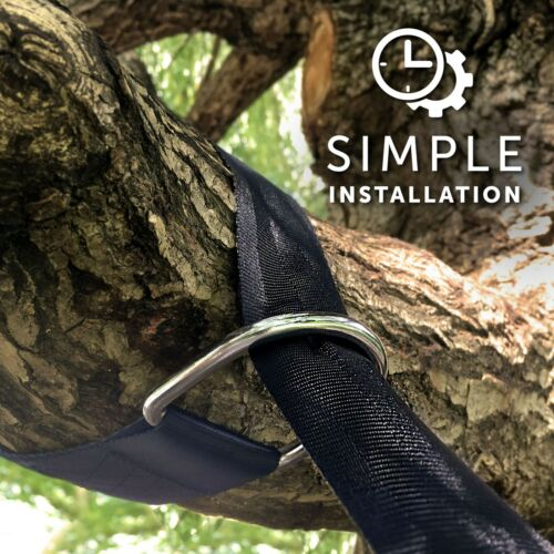 Hold My Swing Tree Hanging Straps Kit Easy to Install Heavy Duty Holds 1500 lb