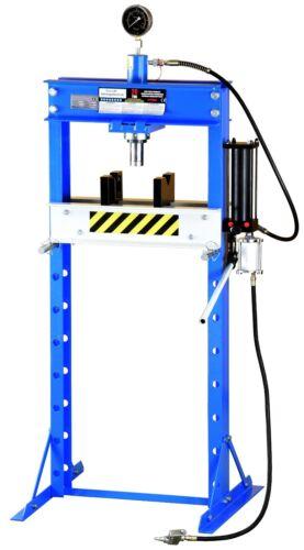 20t Werkstattpresse Pneumatisch Hand Hydraulikpresse blau geschraubt J20HA 01801