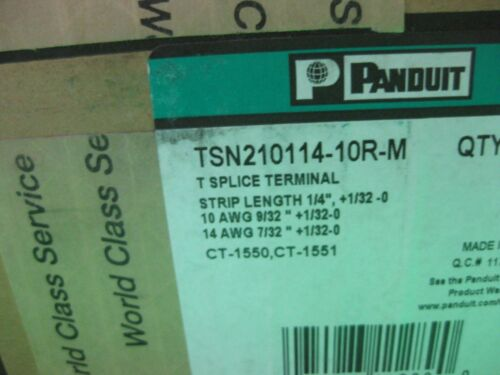 TSN210114-10R-M -- Lot of 100 New Panduit T Splice Terminal 10AWG-14AWG