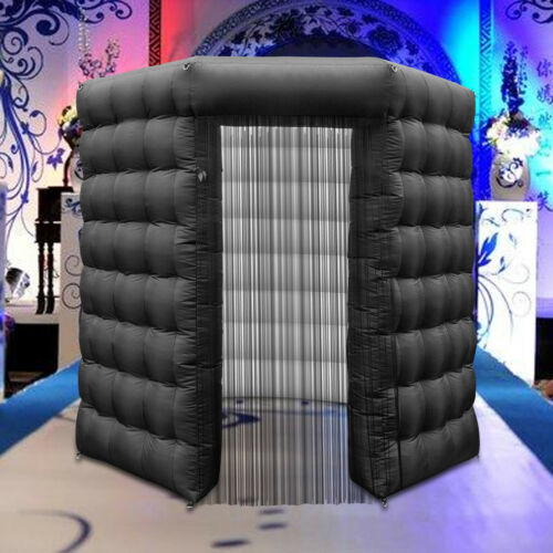 Octagon Inflatable Photo Booth Tent 2.5M LED Lights Spacious Exhibition Portable