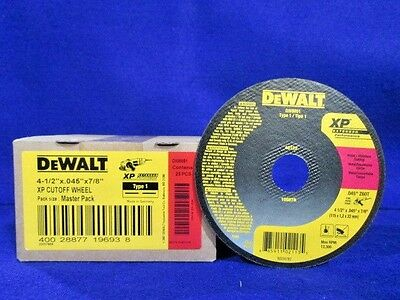 DeWALT 4-1//2 X .045 X 7//8 XP CUTOFF WHEEL DW8851