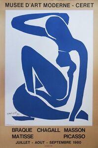 Henri matisse: nu bleu-lithograph signed # mourlot & museum ceret 1980