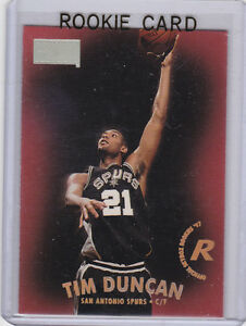 Details About Tim Duncan Rookie Card 1997 Skybox Premium Nba Rc San Antonio Spurs Basketball
