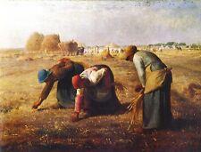Jean-François Millet spighe lettrici contadini NORMANDIA FRANCIA büttenfaks 3
