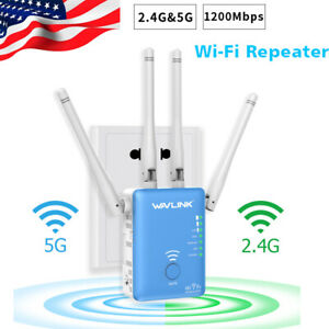 Wavlink-AC1200-WIFI-Repeater-2-4G-amp-5G-1200mbps-Router-amp-Wireless-Range-Extender