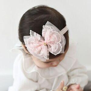 Girl-Kids-Headwear-Bow-Hairband-Lace-Chiffon-Baby-Headband
