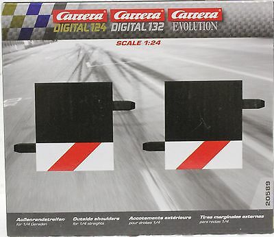 2 Carrera 20588 1//3 Straight Track Border//Shoulder for 1//24 and 1//32 Scale Tracks