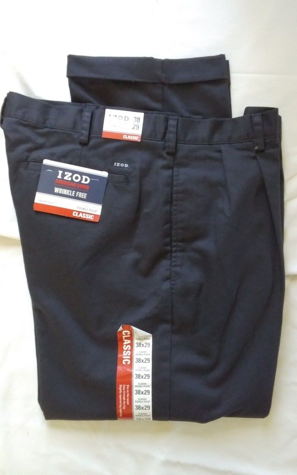 IZOD   SIZE BIG & TALL   38X29   DOUBLE PLEAT FRONT