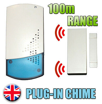 A4b Wireless Shop Visitor Bell Door Entry Magnet Contact Alert Chime Alarm 100m Snelle Warmteafvoer