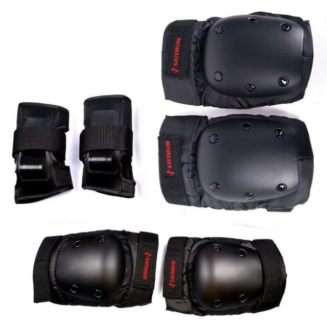 Geelife Knee Pads Elbow Pads Wrist Guards 3 in 1 Skateboard Protective Gear Set for Rollerblading Skateboarding Cycling Skating Scooter Bike Kids//Adults