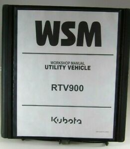 Kubota-RTV900-RTV-900-UTILITY-VEHICLE-Workshop-Service-Repair-Manual-IN-BINDER