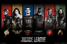 JUSTICE LEAGUE MOVIE - CHARACTER LOGOS POSTER - 22x34 - DC COMICS 15192