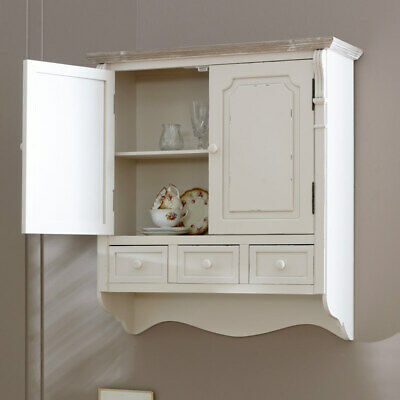 Arredamento Country Style.Country Cream Style Vintage Wall Cabinet Cupboard Storage Unit Home Furniture Ebay