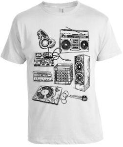 Retro Music Instruments Women T Shirt long sleeve ladies dj band old school