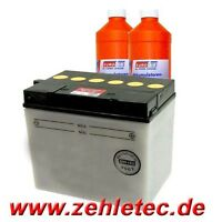 Batterie 12v 30 Ah Din 53030 Aufsitzmäher Mäher 184x123x167mm Plus Rechts Neu