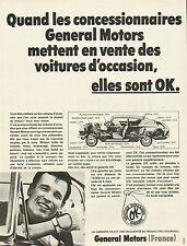 Publicité Advertising 1968  GENERAL MOTORS véhicules d'occasion garanti