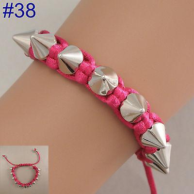 Zip/ Spike/ Skull/ Dreamcatcher Bracelet Wristband mens womens ladies jewellery