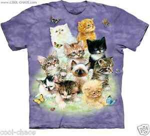 1bbb03d0 I love Cats Butterfly Cat T-Shirt / Purple Tie Dye Tee/Cute Cats ...