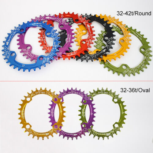 32-42t 104BCD Round Oval Narrow Wide Chainring MTB Bike Chainwheel Chain Guard