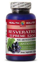 Red Wine - PREMIUM RESVERATROL 1200mg - Anti Aging 1 Bottle 60 Capsules