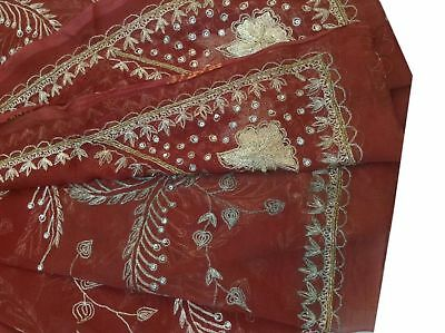 Purposeful Om Vintage Dupatta Chiffon Embroidered Red Stole Wrap Veil Scarves,xad1209 Clothing, Shoes & Accessories