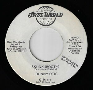 Soul-Funk-45-JOHNNY-OTIS-Skunk-Booty-JAZZ-WORLD-Promo