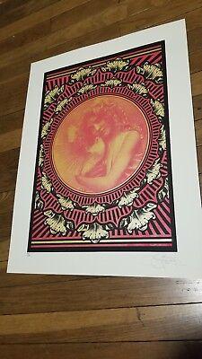 """EMEK Handbill Silkscreen Print BAT ROSE Signed 4.5 X 11.75/"""" poster REGULAR"""