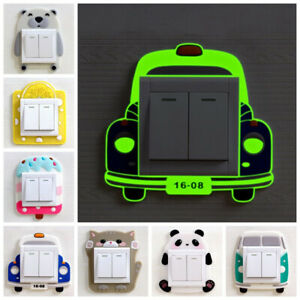 Cute-3D-Animals-Light-Switch-Surround-Wall-Sticker-Cover-Kids-Bedroom-Decor