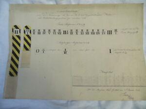 Tirol und Salzburg handgeschriebene Vorschreibung für die Meilenzeichen 1838