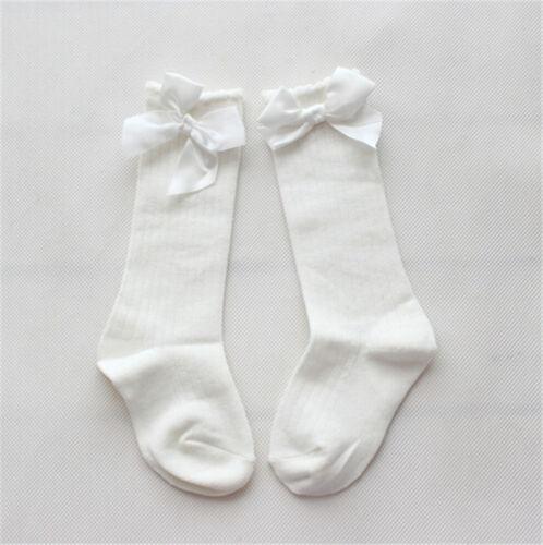 Baby Girls Socks Knee High with Bows Cute Socks Long Tube Kids  Leg Warmer Fad