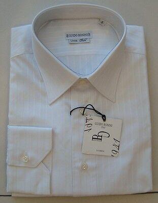 Unito Camicia Guido Bonini Tg. 41, 42 Abbigliamento Originale Uomo Nuovo 1150