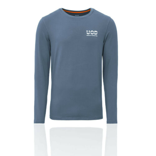 Union Of Definition Mens Long Sleeve Legend Top Blue Sports Gym Breathable