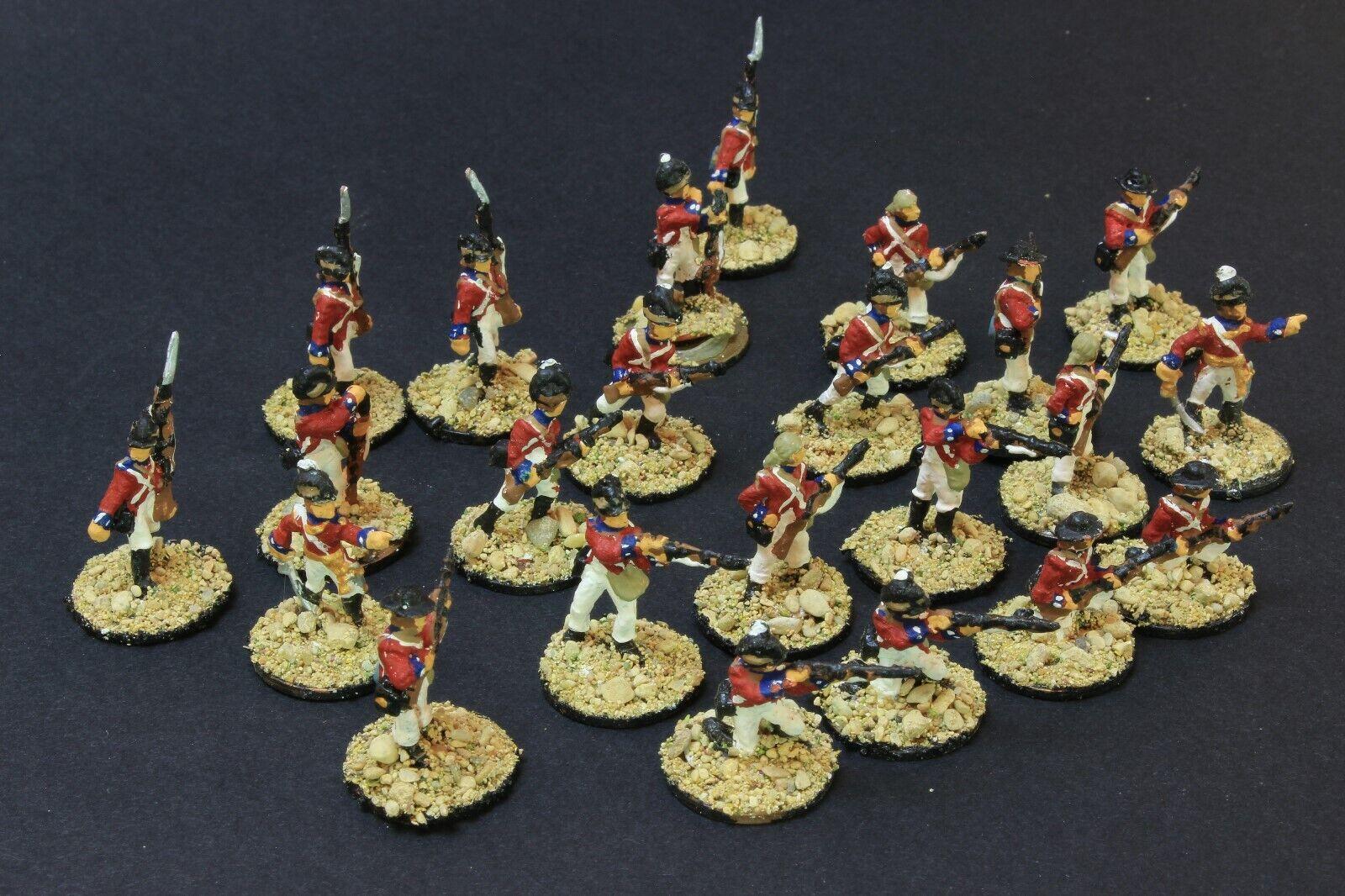 Escala 1 72 Luz Strelets británico infantería Egipto napoleónicas Pintada 23 figuras