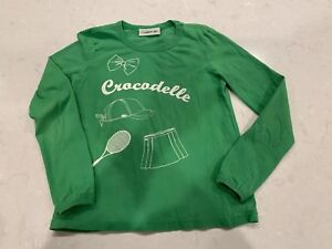0b24fe35 Details about LACOSTE 100% COTTON Long SLEEVE GREEN GRAPHIC T- SHIRT SIZE  10 Tennis Crocodelle