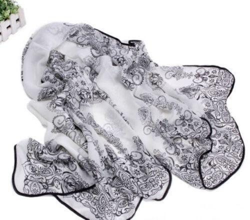 Women Cotton Soft Long Neck Large Scarf Wrap Shawl Pashmina Stole Scarve Chiffon