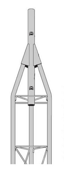 ROHN 45AG 9' Tower Section -  45G Tower Top Section - NEW OEM R-45AG. Available Now for 380.00