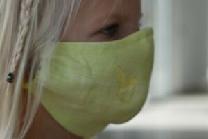 Reusable CHILD FACE MASK with filter pocket