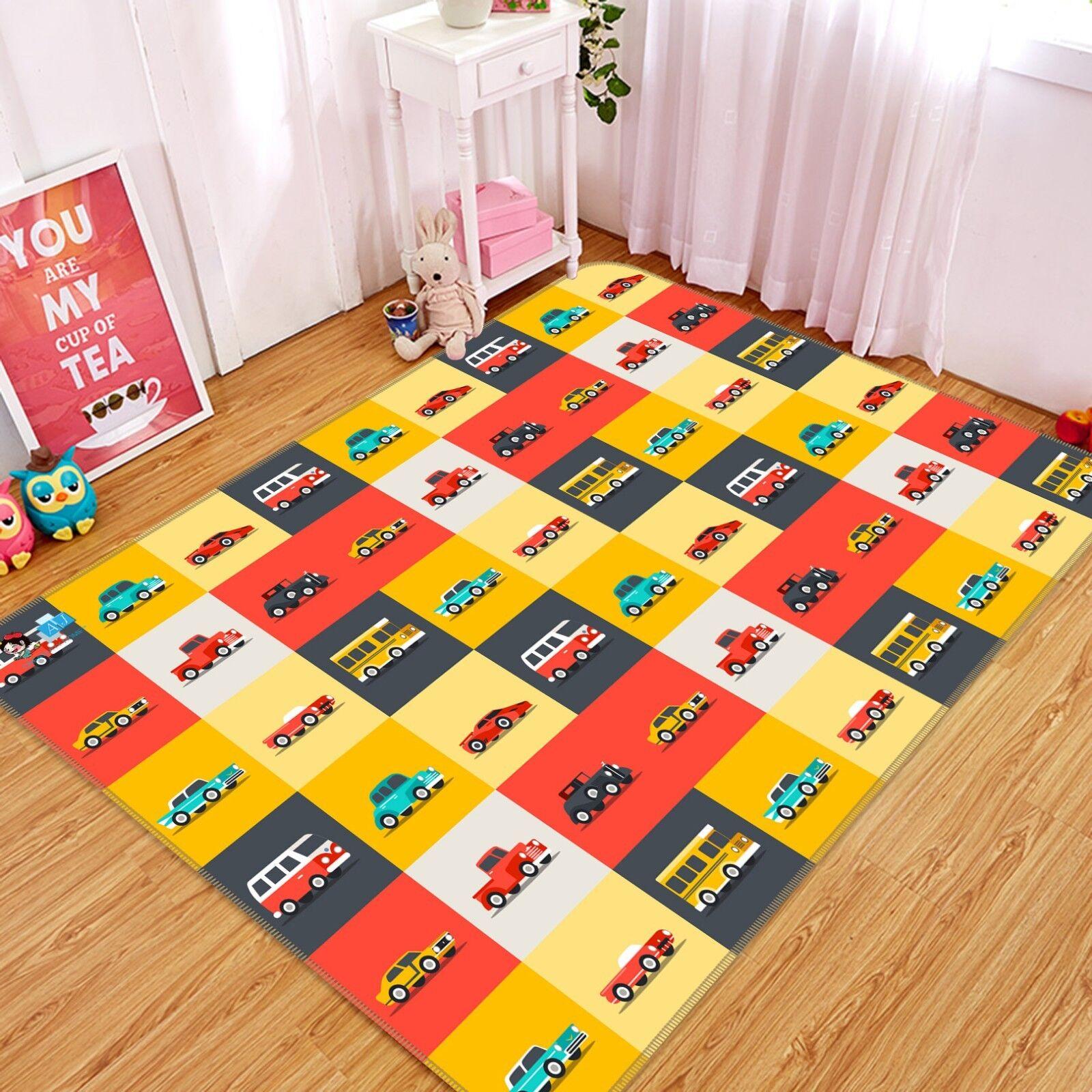 3D Coloreeee Car Grid 325 Non Slip Rug Mat Room Mat Quality Elegant Carpet AU Carly