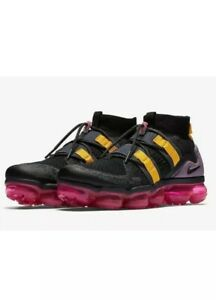 on sale ef9e9 18e64 Details about Nike Air Vapormax Flyknit Utility Black Grey Yellow Pink  AH6834-006 Men's 10